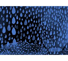 Blue Summer Rain Photographic Print