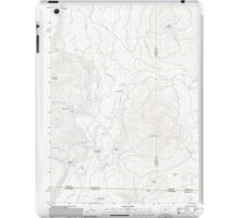 USGS Topo Map Oregon Parker Mountain 20110812 TM iPad Case/Skin