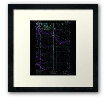 USGS Topo Map Oregon Tangent 281753 1969 24000 Inverted Framed Print