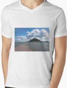 St Michael's Mount From The Causeway Mens V-Neck T-Shirt