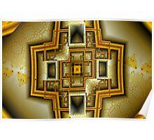 Golden Tower Floor Plan Poster