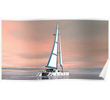 Cat Sailing Poster