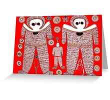 Aboriginal Astronauts by Raphael Terra Greeting Card