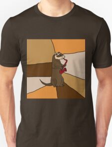 Funny Ferret Playing Red Saxophone Original Art T-Shirt