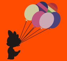 Black Spike Silhouette with Balloons Kids Tee