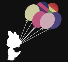 White Spike Silhouette with Balloons by phyrjc2