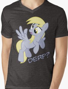 Derp? with text Mens V-Neck T-Shirt