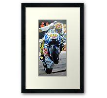 Rossi racing by db artstudio Framed Print