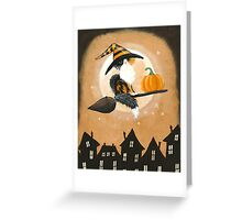 Calico Cat Pumpkin Delivery Greeting Card