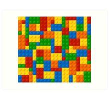 Plastic Blocks Art Print