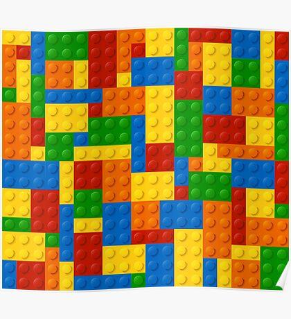 Plastic Blocks Poster