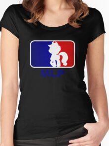 Major League Pony (MLP) - Applejack Women's Fitted Scoop T-Shirt