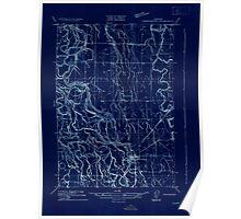 USGS Topo Map Oregon Harrisburg 282176 1909 31680 Inverted Poster