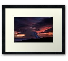 Sunset at Kalapana Framed Print