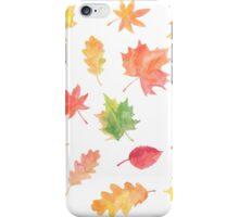 Joyful Autumn Leaves  iPhone Case/Skin