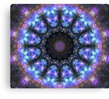The Dark Forest I - Blue, Green, Purple Kaleidoscope Canvas Print