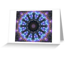 The Dark Forest I - Blue, Green, Purple Kaleidoscope Greeting Card