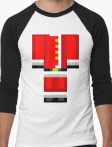 Minecraft Skin Santa Duvet Cover Christmas Bedding Men's Baseball ¾ T-Shirt