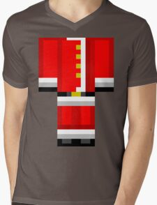 Minecraft Skin Santa Duvet Cover Christmas Bedding Mens V-Neck T-Shirt