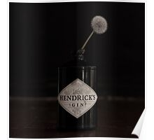 Hendricks Gin Bottle with Dandelion Poster