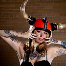 red horned helmet by Che Correa