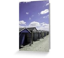 Beach Huts in a Row_2 Greeting Card