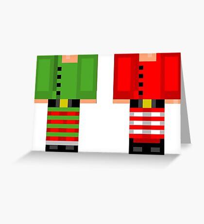 Minecraft Skin Christmas Duvet Cover Elf Bedding Greeting Card