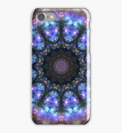 The Dark Forest I - Blue, Green, Purple Kaleidoscope iPhone Case/Skin