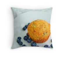 A Blueberry Breakfast Throw Pillow