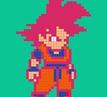 Train Insaiyan Super Saiyan God Goku (Black) by Lannie1787