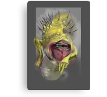 yellow worm Canvas Print