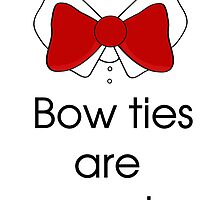 Bow ties are cool by katxx