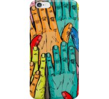 Group Raising Hands iPhone Case/Skin