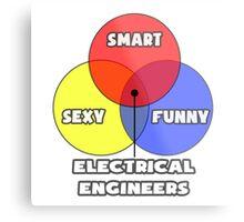 Venn Diagram - Electrical Engineers Metal Print