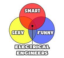 Venn Diagram - Electrical Engineers Photographic Print