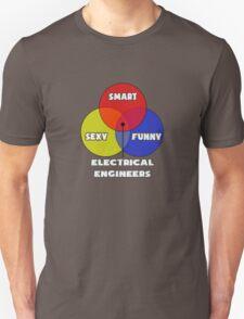 Venn Diagram - Electrical Engineers Unisex T-Shirt
