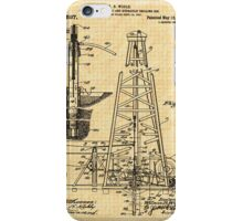 1911 Oil Well Patent iPhone Case/Skin