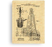 1911 Oil Well Patent Canvas Print