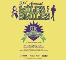 """""""Miles for Smiles"""" Gotham City 5k Charity Run Kids Clothes"""