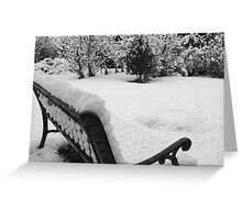 snowhere to sit Greeting Card