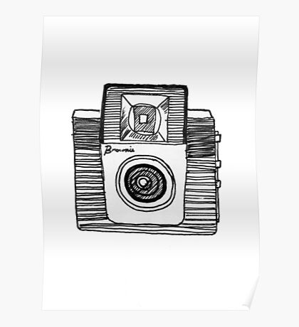 old fashioned brownie camera Poster