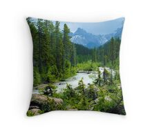 Canadian Rockies Throw Pillow