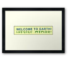 Rick and Morty-- welcome to Earth Framed Print