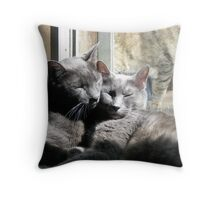 Cuddle Wolves Throw Pillow
