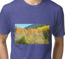 Colorado Fall Colors in the Aspen Trees Tri-blend T-Shirt