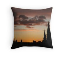 Auld Reekie Throw Pillow