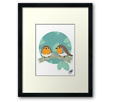 European Robins Framed Print