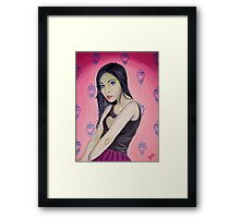 Girl Mysterious Framed Print
