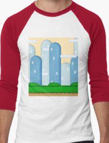 Super Mario World Vexel Background Men's Baseball ¾ T-Shirt