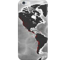 Volcanoes of the World - Miller Projection Print iPhone Case/Skin